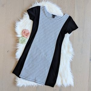 Heather grey striped dress
